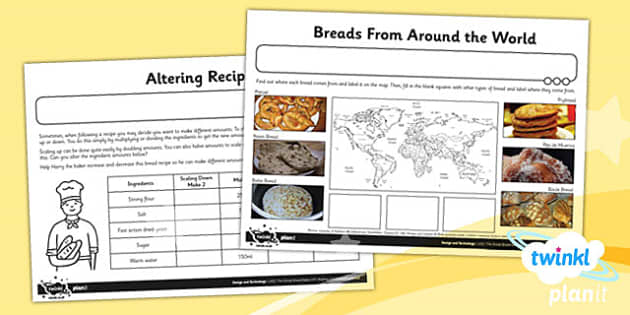 PlanIt - D&T KS2 - The Great Bread Bake Off Home Learning Tasks