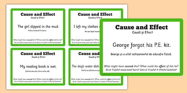 Guided Reading Skills Task Cards Cause and Effect Romanian Translation - romanian cause, effect