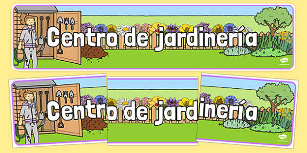 Pancarta del centro de jardinería - crecimiento, jardín, decoración, mural, temario, juego de rol, rincón, papel
