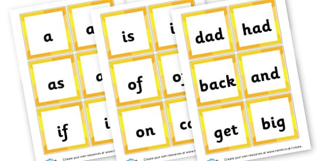 Phase 2 HFWs (square) - Phase 2 Visual Aids Primary Resources, Phase One, Letters, sounds
