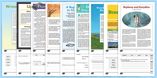 Year 5 Reading Assessments Pack - test, sats, summative, diagnostic, practice, ks2, comprehension, revision, boosters