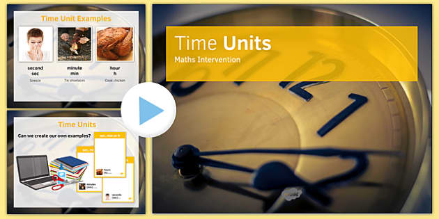 Maths Intervention Time Unit PowerPoint - SEN, special needs, intervention, maths, measure, time