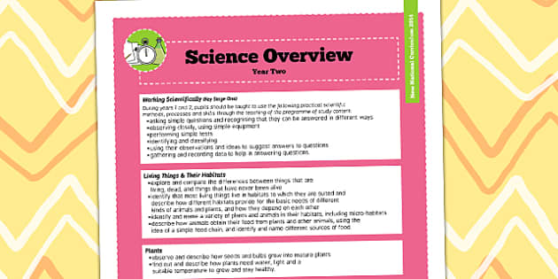 2014 Curriculum Year 2 Science Overview - new curriculum, plans