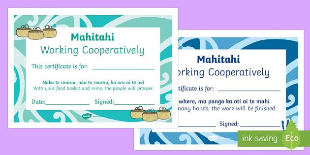 Celebrating the Child Certificates English/Te Reo Maori - Celebrating, child, certificates, maori whakatauki, mahi tahi, Te Reo Maori