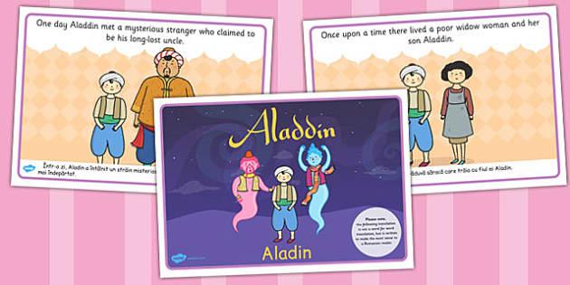 Aladdin Story EAL Romanian Translation - aladdin, story, romanian