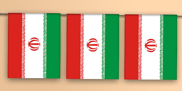 Iran Flag Bunting - iran flag, iran, flag, bunting, display bunting, display
