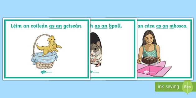 Gramadach na Gaeilge, As An Display Posters
