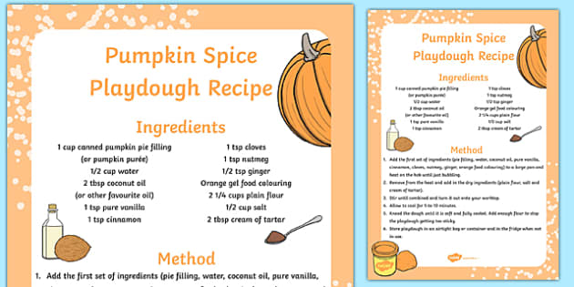 Pumpkin Spice Playdough Recipe - pumpkin, spice, playdough, recipe