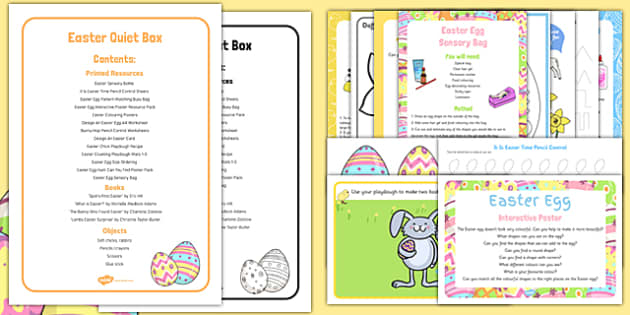 Easter Quiet Box - easter, activities, eyfs, quiet box, quiet, box