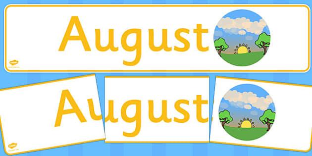 August Display Banner - august, display banner, display, banner, months, year