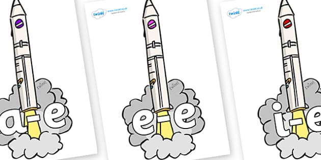 Modifying E Letters on Launching Rockets - Modifying E, letters, modify, Phase 5, Phase five, alternative spellings for phonemes, DfES letters and Sounds