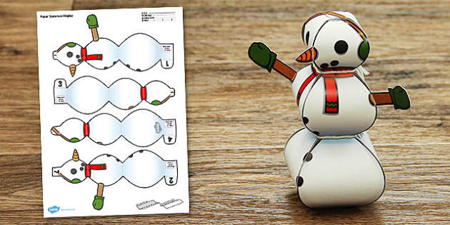 Snowman Display Paper Model - snowman, display, paper model, paper, model, craft
