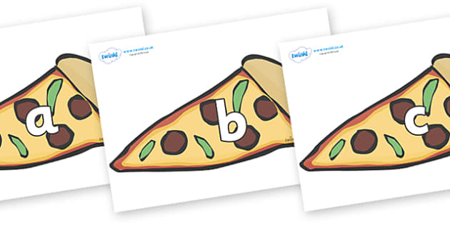 Phase 2 Phonemes on Pizza Slices - Phonemes, phoneme, Phase 2, Phase two, Foundation, Literacy, Letters and Sounds, DfES, display