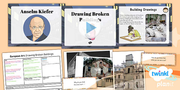 PlanIt - LKS2 Art - European Art Lesson 1: Drawing Broken Buildings Lesson Pack