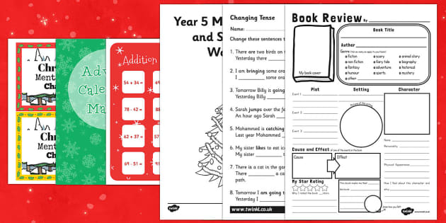 Top Ten UKS2 Christmas Maths  Activity Sheet Pack