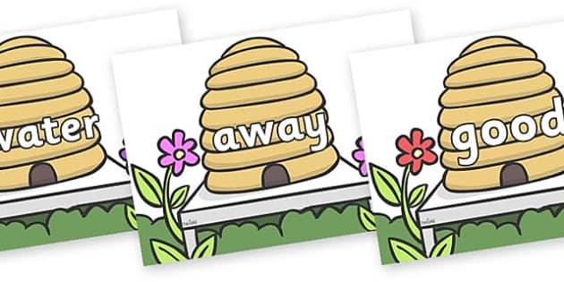 Next 200 Common Words on Beehives - Next 200 Common Words on  - DfES Letters and Sounds, Letters and Sounds, Letters and sounds words, Common words, 200 common words