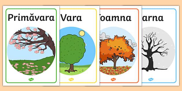 Cele patru anotimpuri - Planșe - Cele patru anotimpuri, Planșe - anotimpuri, copacul anotimpurilor, anotimp, vara , primavara, iarna, toamana, materiale, materiale didactice, română, romana, material, material didactic