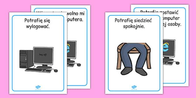 Plakaty Sala informatyczna Regulamin po polsku