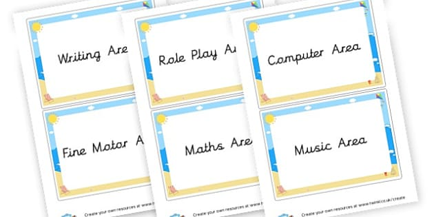 Classroom Area Signs - Classroom Areas Primary Resources, Posters, Areas, Zones, Banners