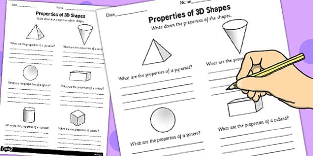 Year 1 Properties Of 3D Shapes Activity Sheet Pack - activity, sheets, worksheet