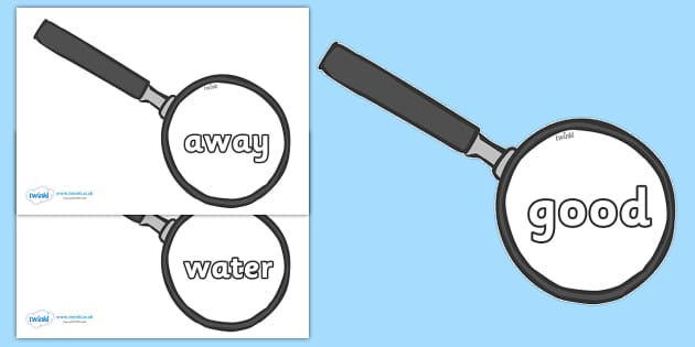 Next 200 Common Words on Magnifying Glass - Next 200 Common Words on  - DfES Letters and Sounds, Letters and Sounds, Letters and sounds words, Common words, 200 common words