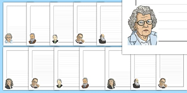 Famous Scientist Themed Display Borders - famous scientist, famous, scientist, themed, page borders