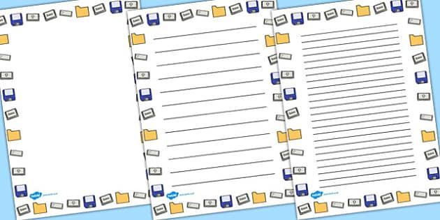 Word Processing Skills Page Borders - Word, Skills, Page, Border