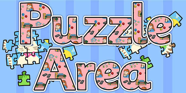 Puzzle Area Display Lettering - puzzle, games, letters, display