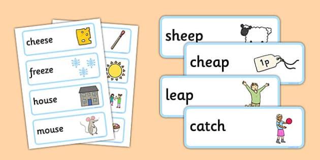 Rhyming Word Cards - rhyme, cards, word cards, flashcards, rhymes, rhyming, activity, sorting