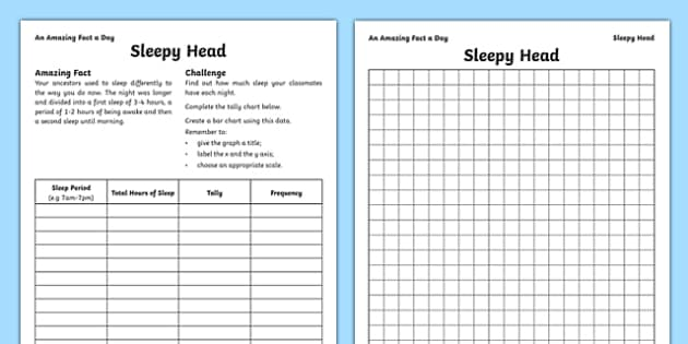 Sleepy Head Activity Sheet, worksheet