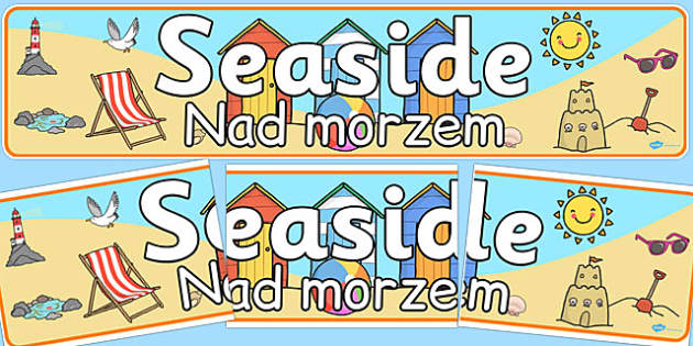 Seaside Banner Polish Translation - polish, seaside, banner