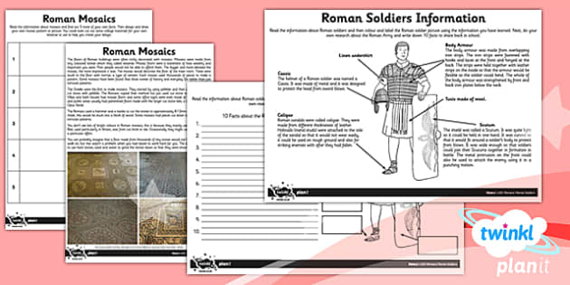 PlanIt - History LKS2 - Romans Unit: Home Learning Tasks