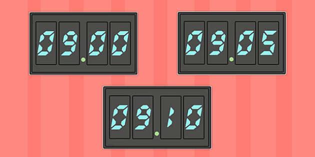 Display Digital Clocks - display, digital clocks, time, clocks