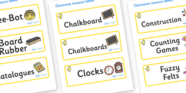 Chicks Themed Editable Additional Classroom Resource Labels - Themed Label template, Resource Label, Name Labels, Editable Labels, Drawer Labels, KS1 Labels, Foundation Labels, Foundation Stage Labels, Teaching Labels, Resource Labels, Tray Labels, P