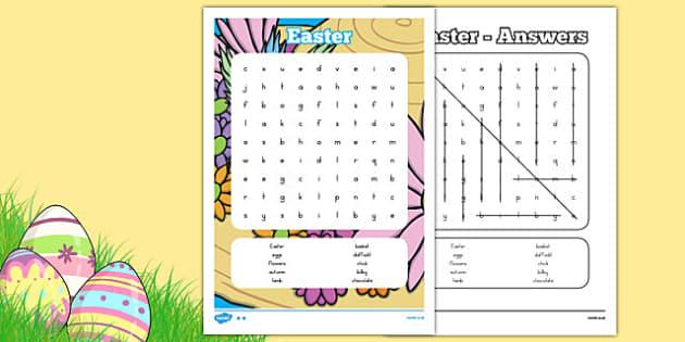 Easter Word Search - easter, word search, word games, literacy