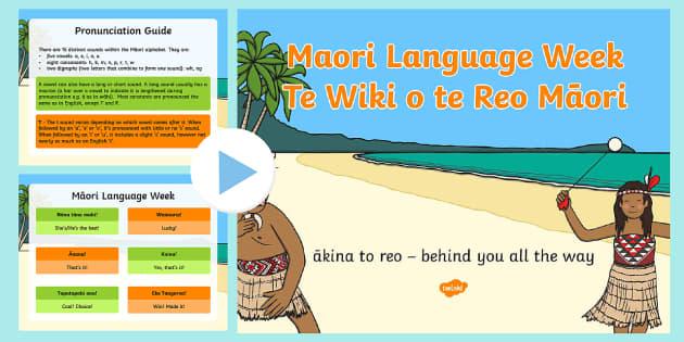 Maori Language Week PowerPoint