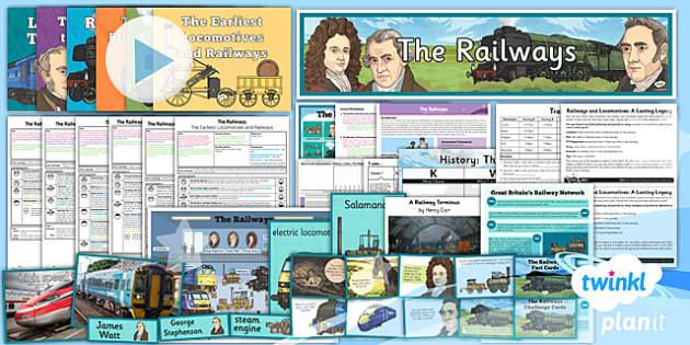 PlanIt - History LKS2 - The Railways Unit Pack - planit, history, unit, pack