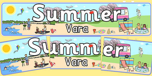 Summer Banner Romanian Translation - romanian, summer, banner, display, season