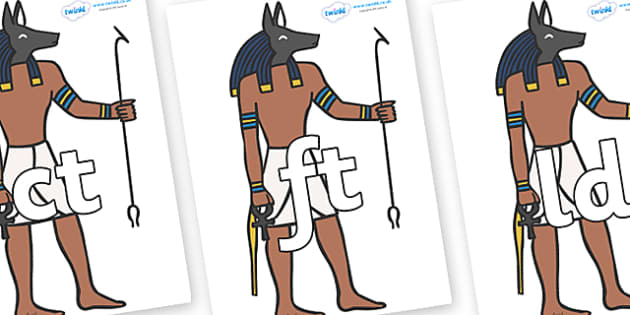 Final Letter Blends on Egyptian - Final Letters, final letter, letter blend, letter blends, consonant, consonants, digraph, trigraph, literacy, alphabet, letters, foundation stage literacy