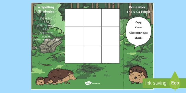 Editable Blank Hedgehog Themed Spelling Zapper - editable, edit, blank, hedgehog, spelling, spell, zapper