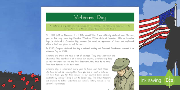 Veterans Day Fact File