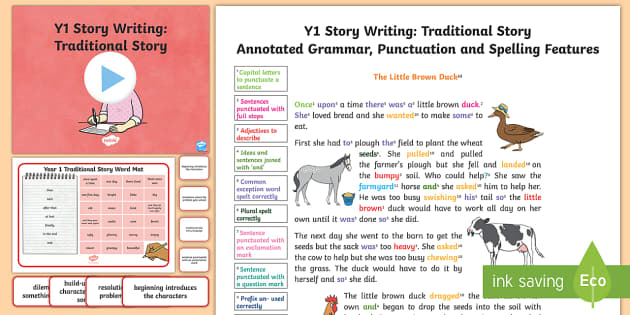 Y1 Story Writing: Traditional Model/Example Text - Example Texts Y1, Story Writing, Traditional Stories, exemplification, WAGOLL, exemplification, mode, ARE, age-related example, model, model text, age-related model