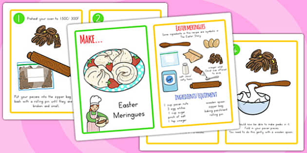 Easter Story Meringues Recipe - easter, easter story, recipes