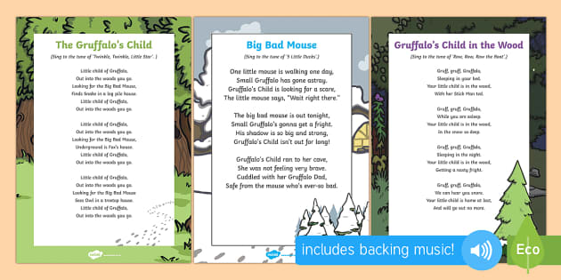Songs and Rhymes Resource Pack to Support Teaching on The Gruffalo's Child