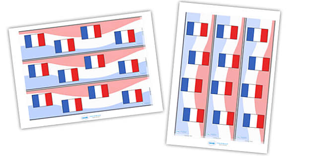 French Display Borders - French, France, display border, classroom border, border, MFL, Modern Foreign Languages, foundation, languages, display, francais