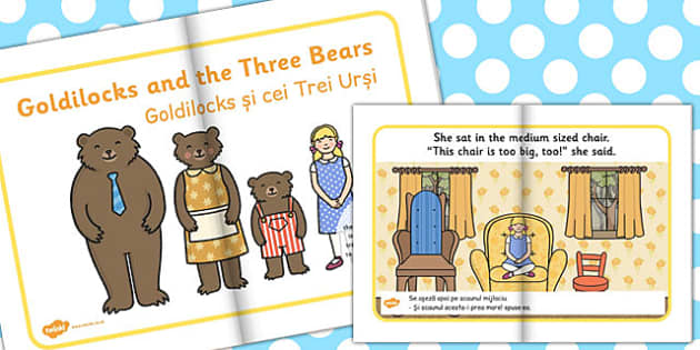Goldilocks Three Bears eBook EAL Romanian Translation - romanian