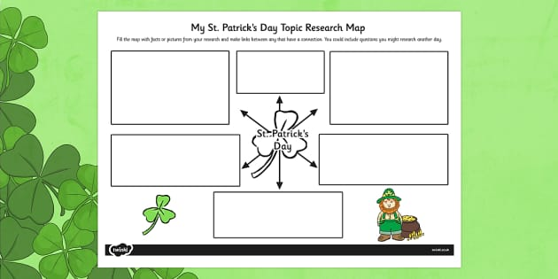 St. Patrick's Day Topic Research Map - topic, research map, st patrick