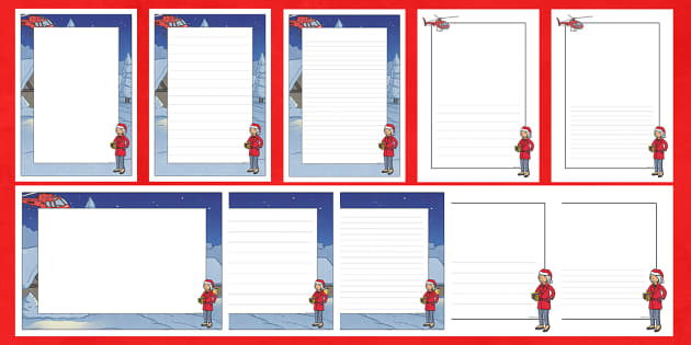 Mrs Claus Page Border Pack - M&S Christmas, Marks, Spencers, Advert, Mrs Christmas, Mrs Claus, Christmas, borders, writing, lined
