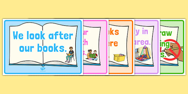 Reading Area Rules Display Posters - reading area, rules, display posters, display, posters