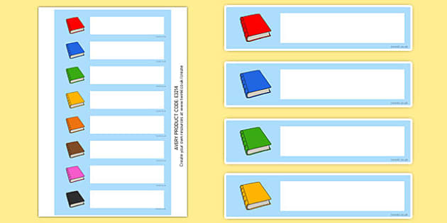 Editable Book Band / Shelf Labels - Book label, library, shelf,  editable label, subject labels, exercise book, workbook labels, textbook labels
